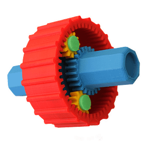 Fully functional mechanical gear parts printed with UP 3D printers