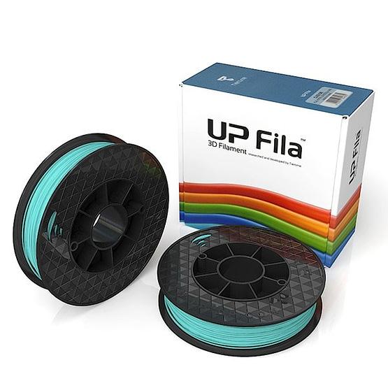 Box of UP Genuine Original ABS 1.75mm diameter filament 2 spools of 500g per pack in crystal sea cyan blue