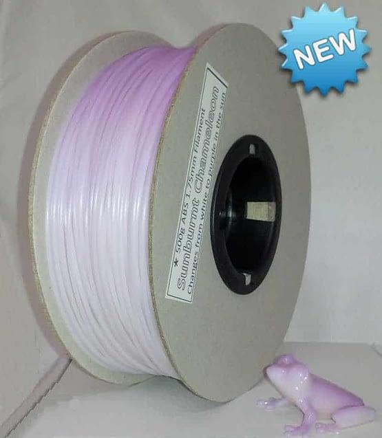 Sunburnt Chameleon White to Purple 500g ABS filament  (colour changing)