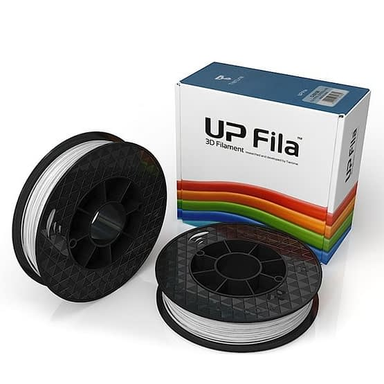 Box of UP Genuine PLA filament 2 spools of 500g per pack in white