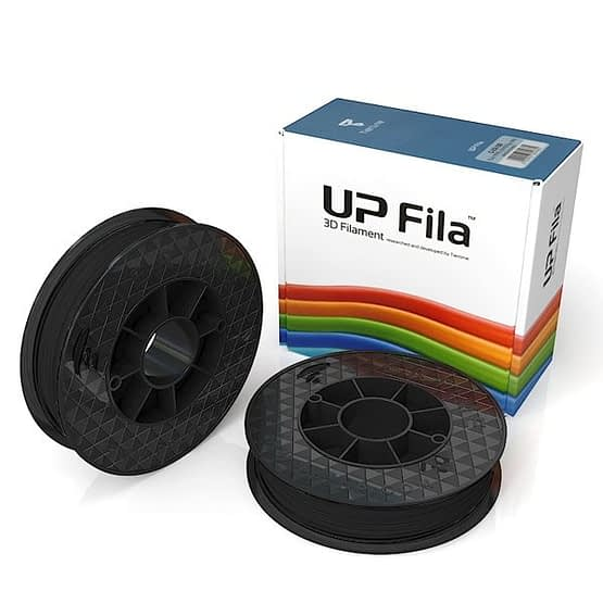 Box of UP GenuinPremium ABS 1.75mm diameter filament 2 spools of 500g per pack in black