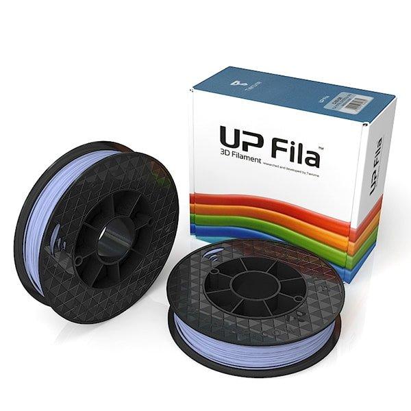 Box of UP Genuine Original ABS 1.75mm diameter filament 2 spools of 500g per pack in pastel purple